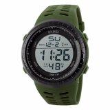 Review Toko Skmei Sport Watch Silicone Strap Water Resistant 50M Jam Tangan Sport Waterproof Day Date Stopwatch 1167 Hijau Army