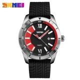 Toko Skmei Olahraga Arloji Kuarsa Pria Fashion Casual 30 M Tahan Air Watch Silikon Tali Jam Tangan 9151 Merah Internasional Tiongkok
