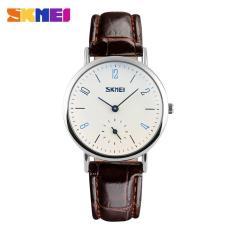 SKMEI Top Brand Couple Digital Watches Fashion Kasual QUARTZ 30 M Tahan Air Watch Mewah Kulit Band Bisnis Jam Tangan 9120 Skmei S Sport
