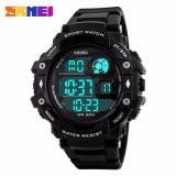 Jual Skmei Tough Full Hitam Jam Tangan Pria Strap Rubber 1118 Sport Full Black Free Box Jam Tangan Flash Satu Set