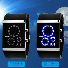 Beli Skmei Trendy Man And Woman Silicone Strap Watch Water Resistant 30M 0984 Black Dengan Kartu Kredit