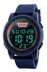 Skmei Trendy Men Led Display Watch Water Resistant 50M Dg1218 Biru Asli