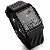 Jual Skmei Trendy Men Sport Led Dual Time Watch Water Resistant Anti Air Wr50M 0814G Jam Tangan Pria Square Tali Strap Karet Digital Analog Wristwatch Fashion Stylish Design Hitam Satu Set