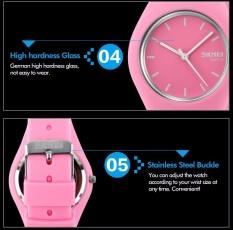 Skmei Unisex Pecinta Waterproof Silicone Strap Jam Tangan Pink 9068 Tiongkok