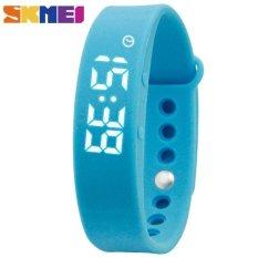 Harga Skmei W05 Wanita Olahraga Watch Smart Gelang Kalori Kebugaran Tracker Alarm Pemantauan Tidur Pedometer Thermometer Gelang Digital Jam Tangan Biru Intl Asli Skmei
