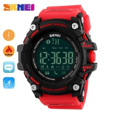SKMEI  Watch 1227 Pria Olahraga Watch Fashion Kolam Digital Watches Kebugaran Tracker Bluetooth IOS 4,0 Android Besar Dial Jam Tangan -Intl