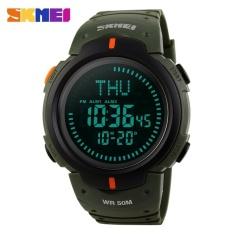Beli Watch 1231 Outdoor Olahraga Kompas Watches Hiking Pria Watch Digital Led Elektronik Watch Manusia Olahraga Watches Chronograph Pria Clock Baru