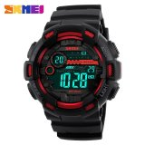 Spesifikasi Skmei Menonton 1243 Pria Olahraga Watches 50 M Tahan Air Kembali Cahaya Led Digital Watch Chronograph Shock Double Time Jam Tangan Yang Bagus Dan Murah