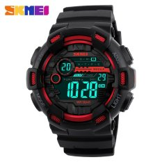Jual Skmei Menonton 1243 Pria Olahraga Watches 50 M Tahan Air Kembali Cahaya Led Digital Watch Chronograph Shock Double Time Jam Tangan Ori