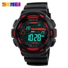 Tips Beli Skmei Menonton 1243 Pria Olahraga Watches 50 M Tahan Air Kembali Cahaya Led Digital Watch Chronograph Shock Double Time Jam Tangan