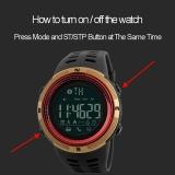 Review Terbaik Watch 1250 Pria Smart Watch Pedometer Kalori Jam Tahan Air Digital Jam Tangan Kolam Olahraga Watches 1250 Relogio Masculino Intl