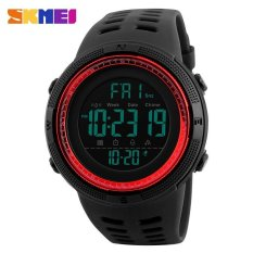 Spek Skmei Watch 1251 Tahan Terhadap Udara Mens Watches Baru Fashion Kasual Led Digital Outdoor Olahraga Watch Pria Multifungsi Mahasiswa Pergelangan Tangan Jam Tangan