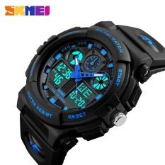 Laki-laki SKMEI Watch 1270 Kuarsa Watch Elektronik Militer Tahan Air Jam Tangan Digital Relogio Masculino-Intl