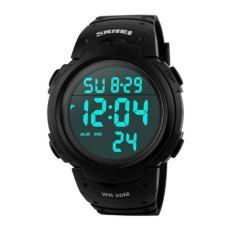 Spesifikasi Skmei Jam Tangan Pria Sport Tahan Air Karet Strap Wrist Watch Hitam 1068 Lengkap