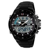 Toko Skmei Jam Tangan Pria Sport Led Tahan Air Karet Strap Wrist Watch Hitam Putih 1016 Internasional Di Tiongkok