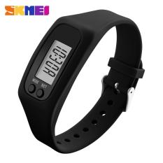 Spesifikasi Skmei Women Fashion Sports Watches Pedometer Calorie Sport Mileage Digital Watch G*rl Colorful Silicone Strap Wristwatches 1207 Black Intl Lengkap