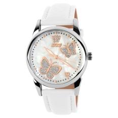Toko Skmei Wanita Fashion Tahan Air Kulit Strap Wrist Watch Putih 9079 Internasional Online Terpercaya