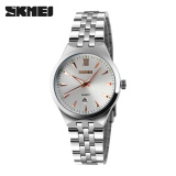 Skmei Wanita Mewah Quartz Jam Tangan Fashion Sport Full Steel Dive Casual Watch Emas Terbaru