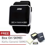 Promo Skmei Oculus Hitam Jam Tangan Wanita Strap Karet 0950 Black Edition Free Box Ori Skmei Skmei