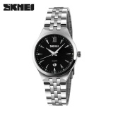 Beli Skmei Perempuan Quartz Jam Tangan Fashion Casual Watches Full Steel Waterproof Jam Tangan Hitam Dengan Kartu Kredit