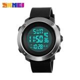 Review Skmei1268 Pria Olahraga Waktu Double Digital Tahan Air Led Display Watch Hitam Besar Tiongkok