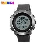 Jual Skmei1268 Pria Olahraga Waktu Double Digital Tahan Air Led Display Watch Gray Besar Skmei Murah