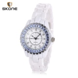 Harga Skone 7240 Women Quartz Watch Artificial Diamond Dial Crystal Bezel Alloy Band Female Wristwatch Intl Baru