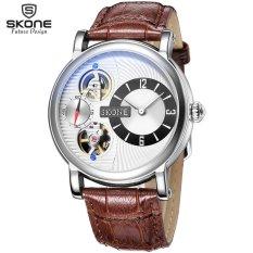 Ormano-jam Tangan Wanita-pink Genuine Leather Watch Dual Gerakan Jam Tangan Mekanis Otomatis-Intl