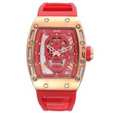 Ormano-jam Tangan Wanita-PINK SPORTS Watch QUARTZ Mens Watches Silikon Watch (3987)