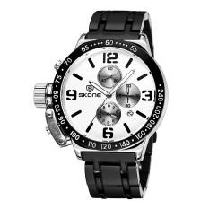 Ormano-jam Tangan Wanita-Stainless Steel Strap Business Wrist Watches 3 Fungsi Dials 658602 (Putih)