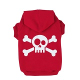Harga Skull Printed Dog Fleece Hoodies Coat Winter Sweatshirt Pet Puppy Dog Apparel Clothes Color Red Size Xs Oem