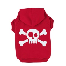 Katalog Skull Printed Dog Fleece Hoodies Coat Winter Sweatshirt Pet Puppy Dog Apparel Clothes Color Red Size Xs Oem Terbaru