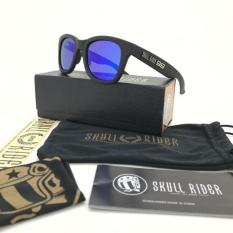 b404f9eea58b4 Skull Rider - Sunglasses Polarized Full Set Men Sporty - Black Blue
