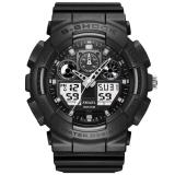 Beli Smael 2017 Men Quartz Digital Watch Sport Watches Brand Led Militer Tahan Air Arloji Hitam Hitam Intl Pake Kartu Kredit