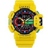 Promo Smael Merek Watch 1436 Olahraga Jam Tangan Pria Emas Hitam 30 M Tahan Air Menyelam Led Digital Menonton Militer Kuarsa Arloji Relogio Masculino Intl