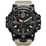 Promo Smael Merek Watch 1545 Pria Olahraga Watches Dual Layar Analog Kuarsa Elektronik Led Digital Jam Tangan 50 M Tahan Air Menonton Renang Intl Tiongkok