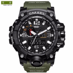 SMAEL Luxury Dual Display Watches Pria Militer QUARTZ Watch Pria Shock Resistant SPORTS STYLE Digital Clock-Intl