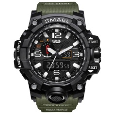 SMAEL Watch 1545 Pria Kuarsa Analog LED Digital Elektronik Watch Tahan Air Militer Watches Relogio Masculino-Intl