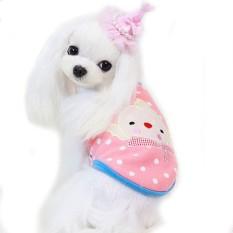 Anjing Peliharaan Kecil Mantel Rompi Anak Anjing Musim Dingin Hangat Bulu Clouthes PK/M-Internasional