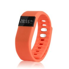 Smart Bracelet Watch Jam Tangan Pria Dan Wanita Sport Strap Karet Orange Tw64 Orange Smart Bracelet Diskon 50