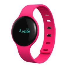 Jual Beli Online Smart Bracelet Watch Jam Tangan Pria Dan Wanita Sport Strap Karet Merah Muda H8 Pink
