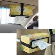 Smart Car Tissue Holder Penjepit Jepit Kotak Tisu Mobil Otomotif Unik Universal Gantungan Tissue Tempat Tisu Penjepit Tissu Box Kotak Di Mobil Car Holder Aksesoris Interior Mobil Wadah Tisu Anti Ribet  - Warna Random
