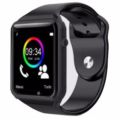 SmartWatch A1 Smart watch With Camera Bluetooth Pedometer Sleep Tracker MP3 Answer Call For Android iOS - Black