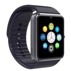 Jual Smartwatch Gt08 Full Black Smart Watch Gt08 Camera Sim Sms Online