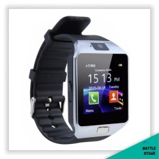 Smartwatch U9 / DZ09 / Smart Watch DZ09 Support Sim Card & Memory Card / Jam Tangan Android - Silver