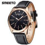 Smeeto Vintage 1618 Jam Tangan Pria Wanita Fashion Waterproof Analog Quartz Men Lady Watch Black Strap Black Dial Smeeto Diskon