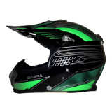 Beli Snail Helm Motocross Mx315 Motif Hijau Clear Snail
