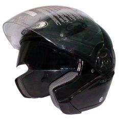 Snail Helm Half Face Double Visor Ff617 Hitam Snail Diskon 40
