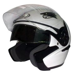 Beli Snail Helm Half Face Double Visor Ff617 Putih Cicilan