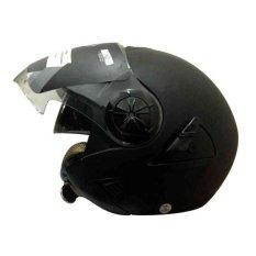 Harga Snail Helm Half Face Retro 622 Double Visor Mika Helm Panjang Hitam Dope Seken